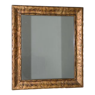 Art Nouveau Carved & Gilded Frame with Mirror C. 1890 to 1910 For Sale