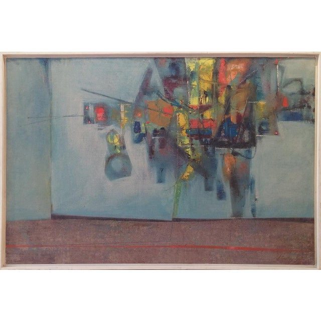 Abstract Stanley Bate, Pas De Deux Painting, Circa 1960 For Sale - Image 3 of 7