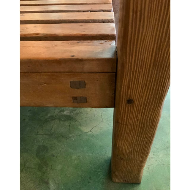 19th Century Rustic Pine Table / Sideboard For Sale - Image 10 of 13