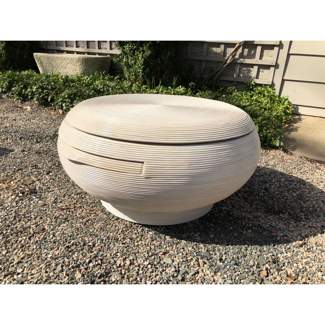 Gabriela Crespi Style Mid-Century Modern Round Cocktail Table For Sale - Image 13 of 13