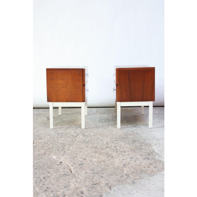 Pair of Danish Modern Teak 2-Drawer Nightstands - Image 2 of 9