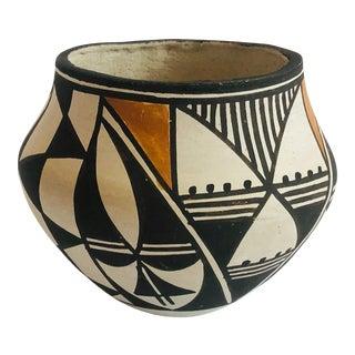 Vintage Acoma Pueblo Pottery Vase by Rose For Sale