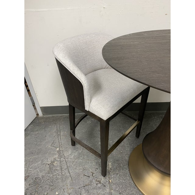 Modern Hooker Furniture Dining Room Curata Pub Table + Two Barstools Set For Sale - Image 3 of 13