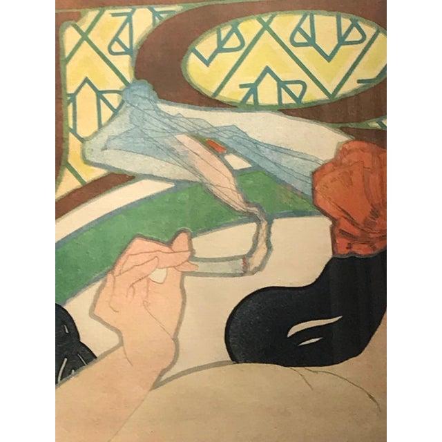 Art Nouveau Alphonse Mucha Original Job Poster, 1898 For Sale - Image 9 of 13
