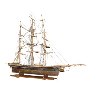 Late 19th Century Large Antique Ship Model For Sale