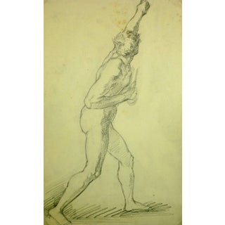 Nude Figure of Male Striking Pose For Sale