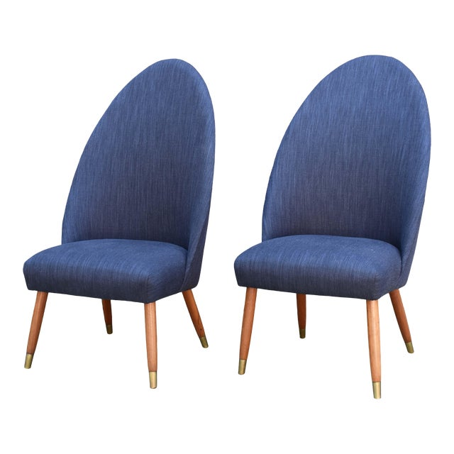 Mid Century Modern Slipper Chairs - a Pair For Sale