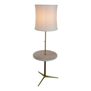 Arreodoluce Marble and Brass Mid Century Modern Floor Lamp For Sale