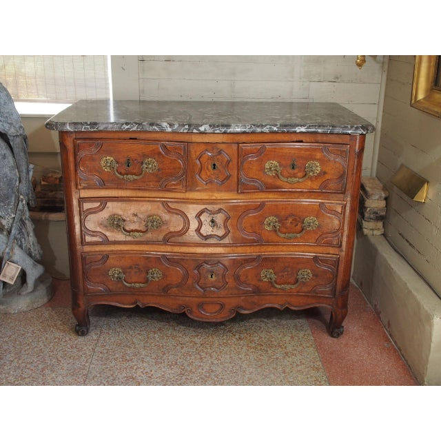 Louis XV Period and Signed Walnut Commode For Sale - Image 9 of 9