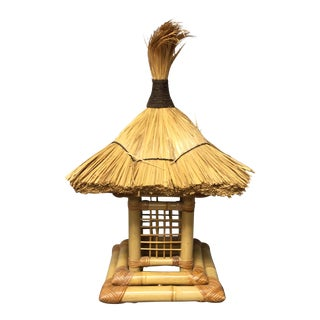 Tropical Tiki Hut Lamp For Sale