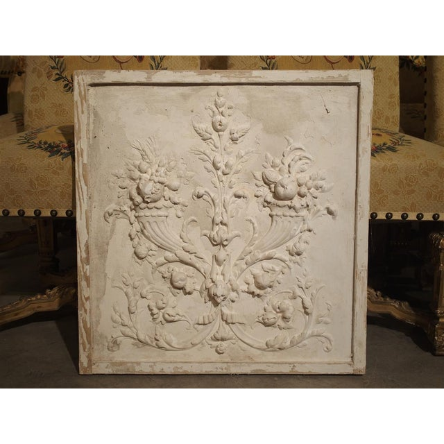 Plaster Bas Relief Cornucopia Panel From France For Sale - Image 9 of 9