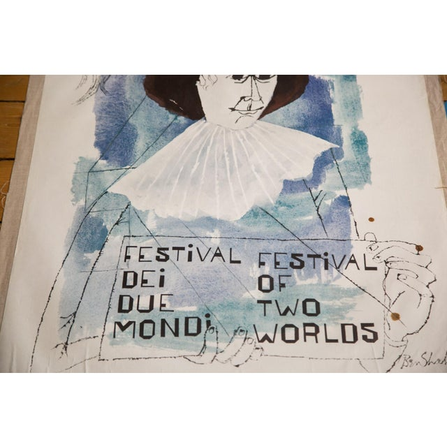 Offered is a vintage original lithograph poster to promote the Spoleto Festival in 1965. Held every July, the Spoleto...