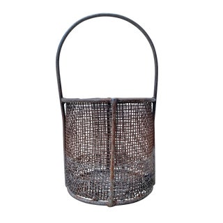 Early 20th Century American Industrial Wire Basket For Sale
