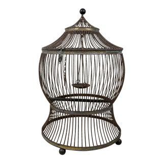 Vintage Pagoda Bird Cage For Sale