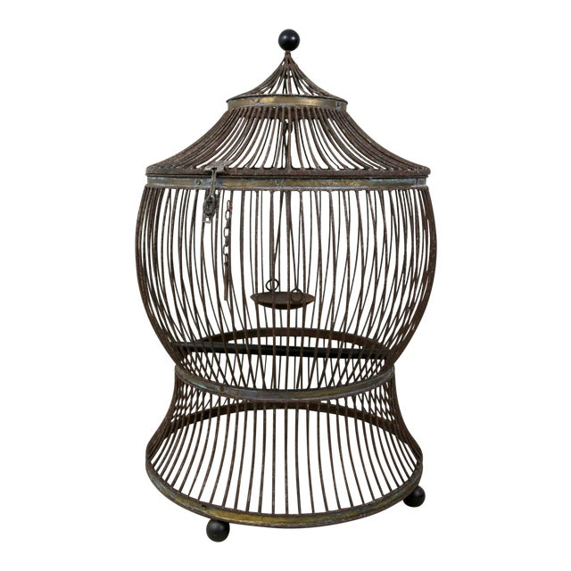 Vintage Pagoda Bird Cage For Sale
