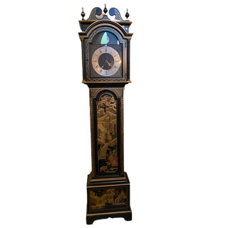 Antique Colonial Oriental Style Grandfather Clock For Sale
