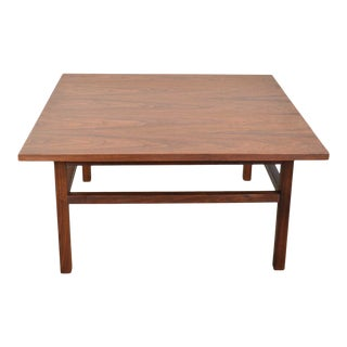 Mid Century Modern Square Walnut Cocktail Coffee End or Side Table Style Founders Furniture For Sale