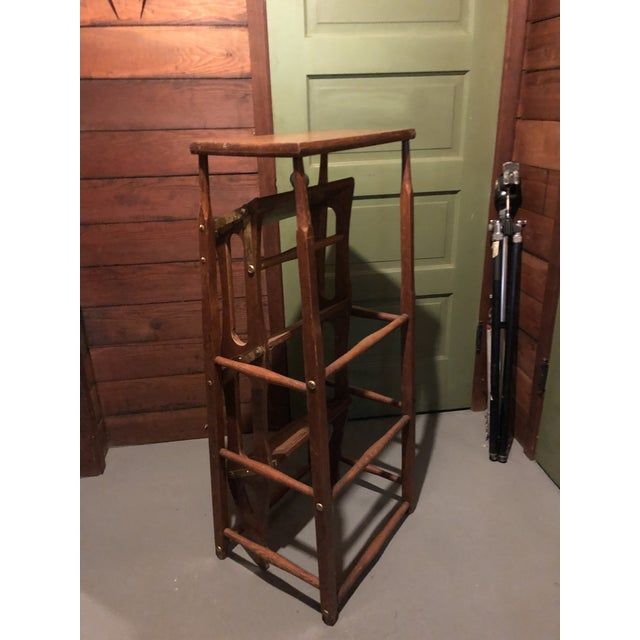 Early 20th Century American Metamorphic Library Ladder Steps For Sale - Image 4 of 13