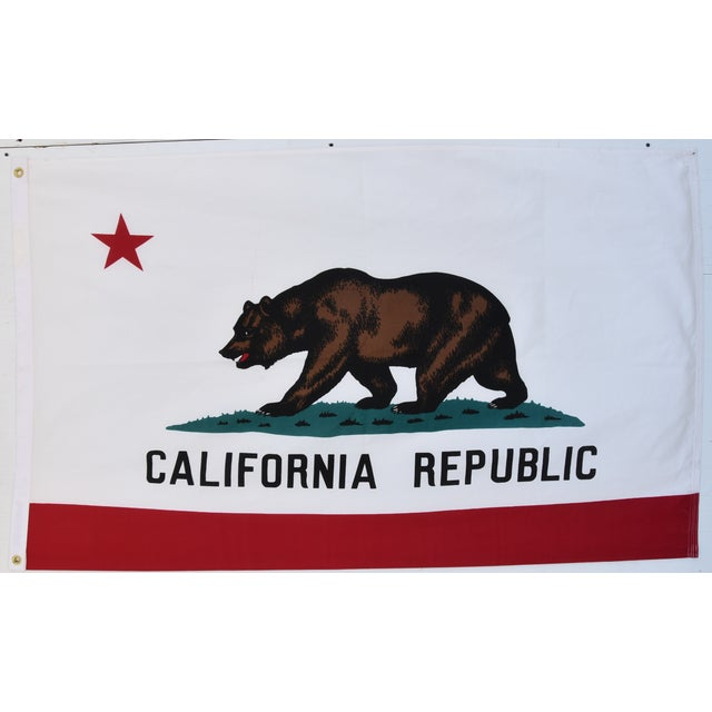 Large Vintage California Republic State Bear Flag For Sale - Image 10 of 10