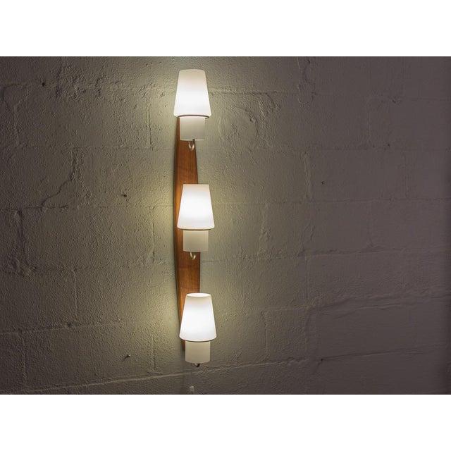 White Danish Modern Vertical Sconce Light For Sale - Image 8 of 10