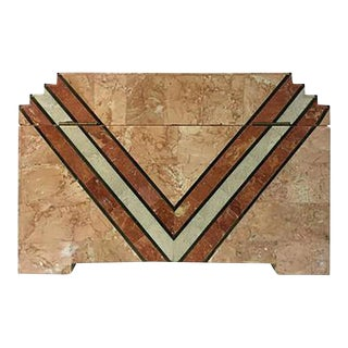1970s Maitland-Smith Art Deco Inspired Box in Tessellated Marble by Maitland Smith For Sale