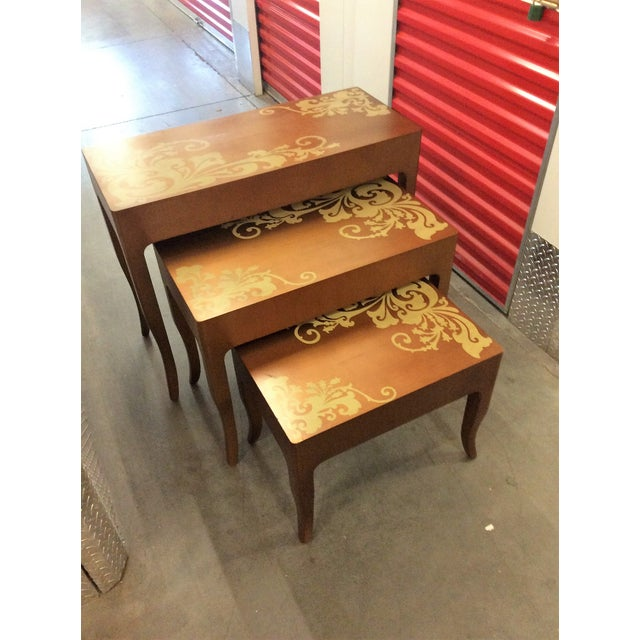 Contemporary Nesting Tables - Set of 3 - Image 2 of 8