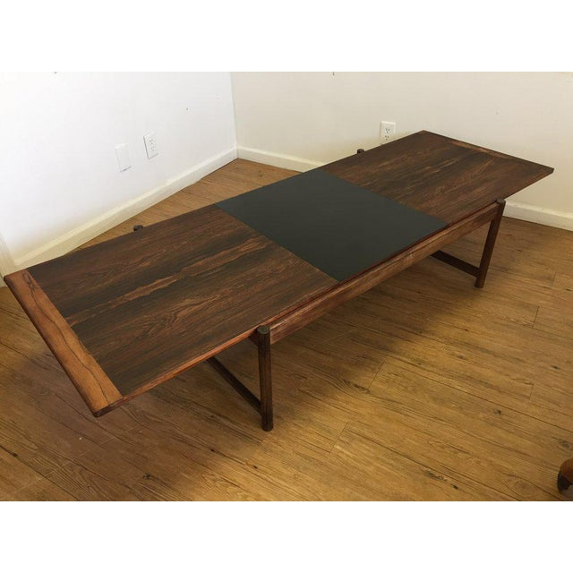 Danish Mid-Century Modern Rosewood Flip Top Coffee Table For Sale In New York - Image 6 of 11