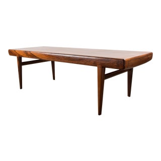 1950s Scandinavian Modern J. Linde's Extending Rosewood Coffee Table For Sale