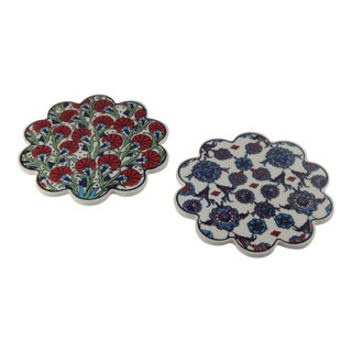 Set of Two Turkish Coaster - Ethnic Coffee Coaster For Sale