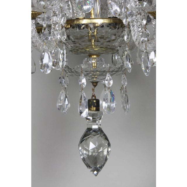 Anglo-Irish Cut-Glass Chandelier For Sale - Image 9 of 10