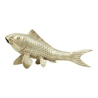 1960s Large Brass Koi Fish Figurine For Sale