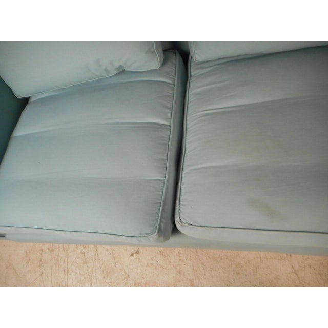 Blue Mid-Century Modern Sofa by Dunbar For Sale - Image 8 of 10