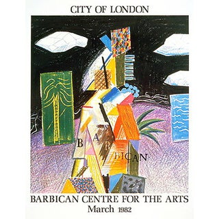 1982 David Hockney City of London Barbican Centre for Arts Poster For Sale