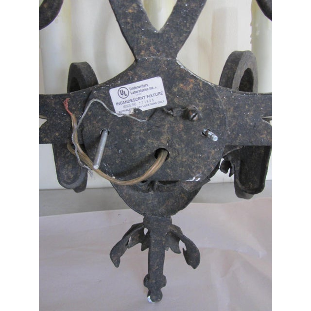 Wrought Iron French Scroll Sconces - A Pair - Image 7 of 7