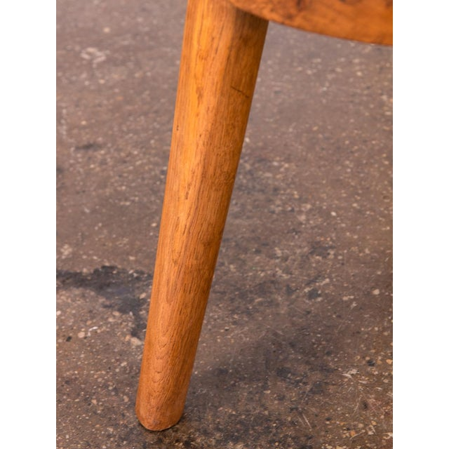 Tan Jean Touret Oak Stool for Marolles For Sale - Image 8 of 10