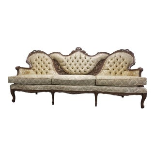 1950s Vintage Victorian French Provincial Sofa For Sale