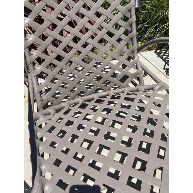 Metal Vintage Brown Jordan Tamiami Chaise Lounges - a Pair For Sale - Image 7 of 8