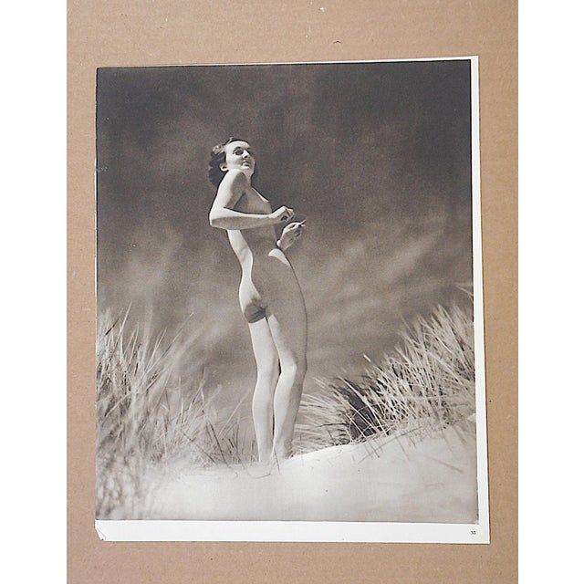 Art Deco Vintage Mid Century Nude Photogravure For Sale - Image 3 of 3