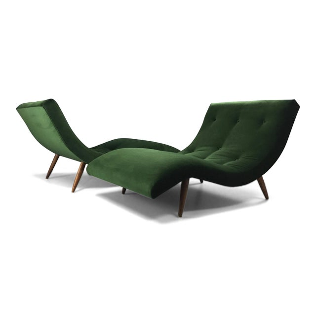 Adrian Pearsall Wave Lounge Chaise - Image 2 of 8