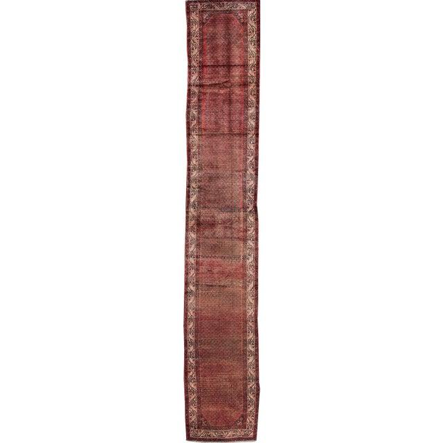 "Apadana - Vintage Persian Hamadan Rug, 2'7"" x 16' - Image 1 of 6"