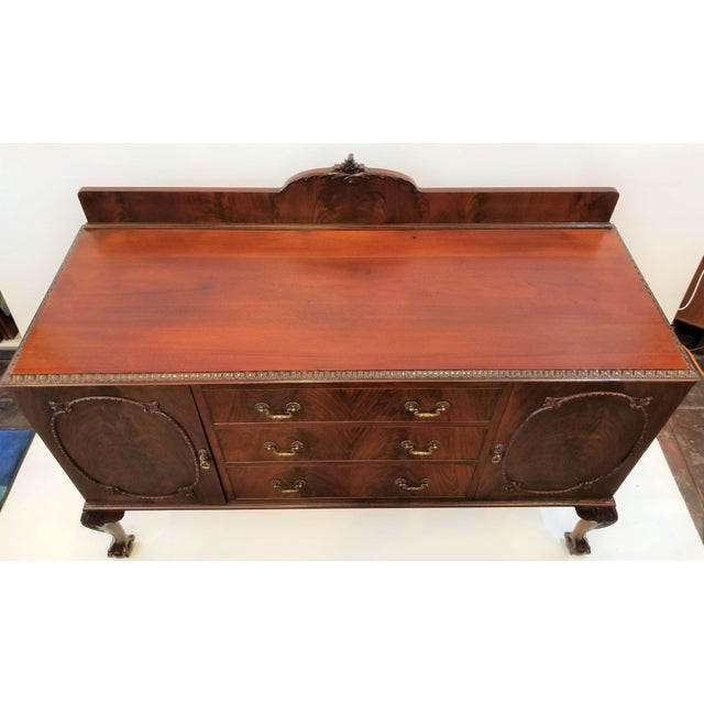 1898-1920 Cole Brothers Ltd. England Chippendale Revival Mahogany Sideboard For Sale - Image 9 of 13