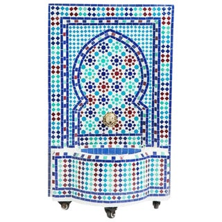 Mosaic Mediterranean Water Fountain For Sale