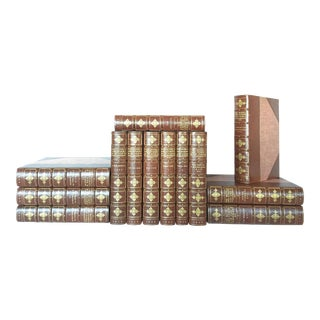 Rare Antique 1900s Novels and Stories of Ivan Turgenieff - 13 Volumes, Ltd Ed. Bound by Stikeman & Co. For Sale