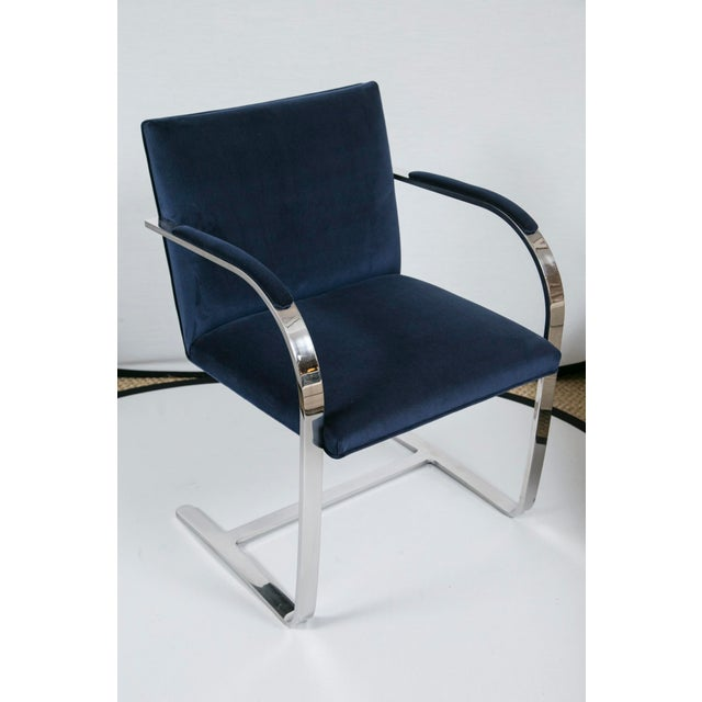 Brno Flat Bar Navy Velvet Chairs - S/6 For Sale - Image 9 of 9