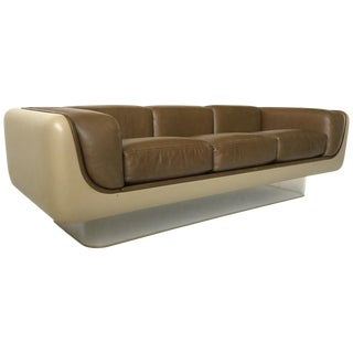 William Andrus Steelcase Leather Sofa For Sale