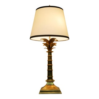 Vintage Brass Palm Tree Lamp by Leviton For Sale
