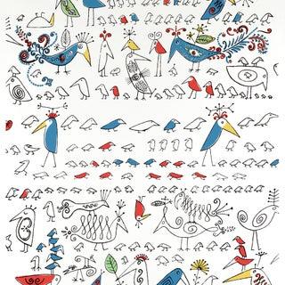 Schumacher Aviary Wallpaper in Multi on White Preview