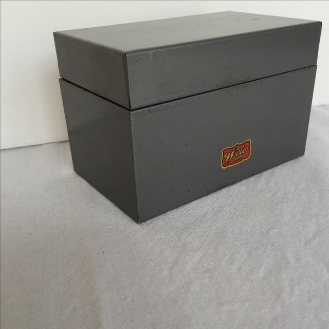Mid-Century Metal Index Box - Image 3 of 7