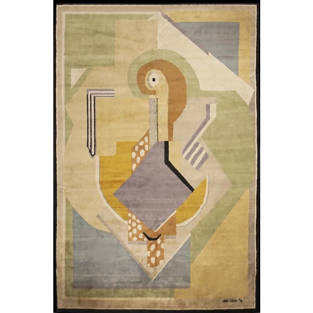 Rug after Albert Gleizes (France, 1881-1953) Design N.35 Hand knotted wool rug Manufacture by Boccara 8 editions in total...