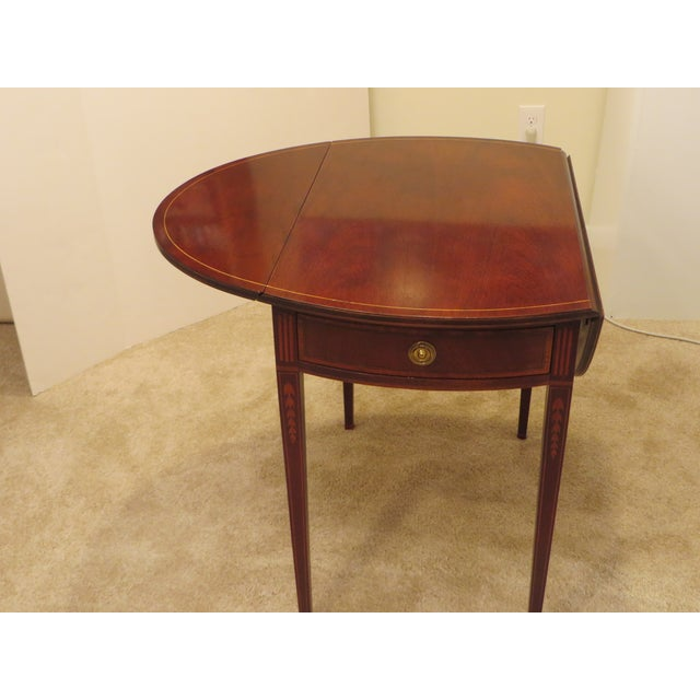 Early 20th Century Early 20th Century Antique Baker Furniture Drop Leaf Pembroke Table For Sale - Image 5 of 13